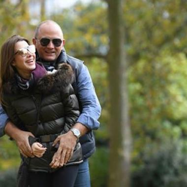 شقاوة نانسي عجرم مع زوجها في لندن!