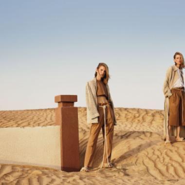 """في""""رحلات""""Kristina Fidelskaya 2019 ملابس جاهزة فاخرة بلون الرمال"""