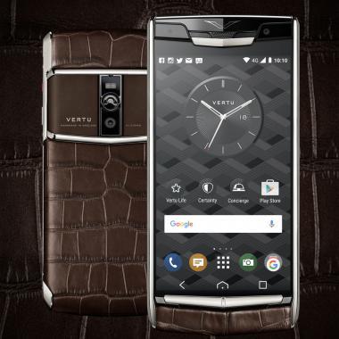 هاتف Signature Touch Cocoa Alligator من VERTU
