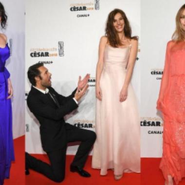 بالصور:الألق الباريسي كله على سجادة حفل جوائز César الحمراء