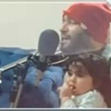 """بالفيديو:زياد برجي يغني """"حبيبي وينو"""" مع طفلته نور"""