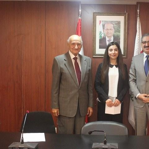 جائزة السفير الراحل فؤاد الترك للطالبة المتفوقة ميشيل أسمر