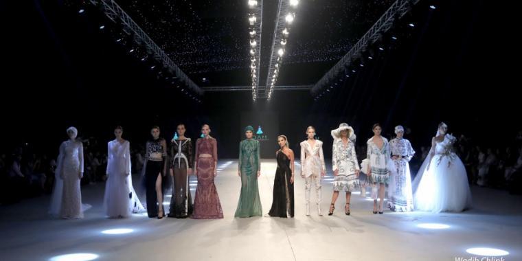 عرض أزياء المصممة دانا عبدالله المصري خلال حفل Designers & Brands
