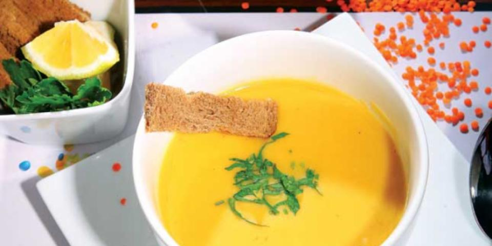 حساء العدس (المجروش)