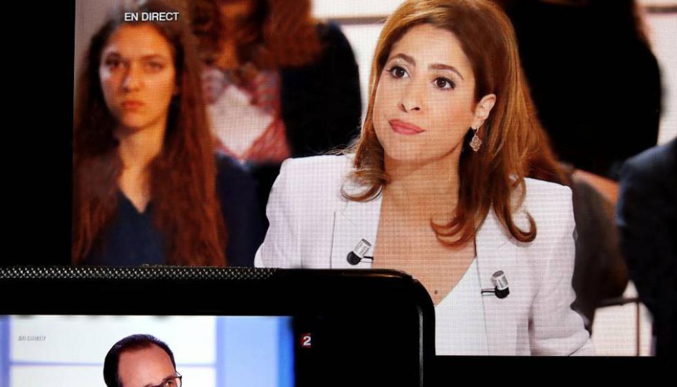 الصحافية ليا سلامة قَسَمت الفرنسيين مساء أمس