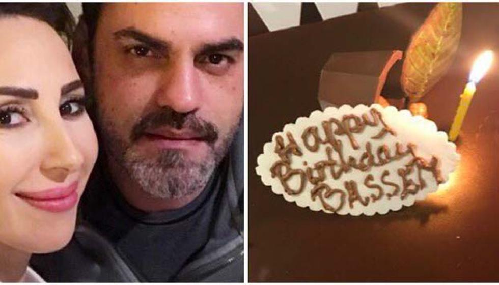 بالصور: ورد الخال تحتفل بعيد ميلاد زوجها