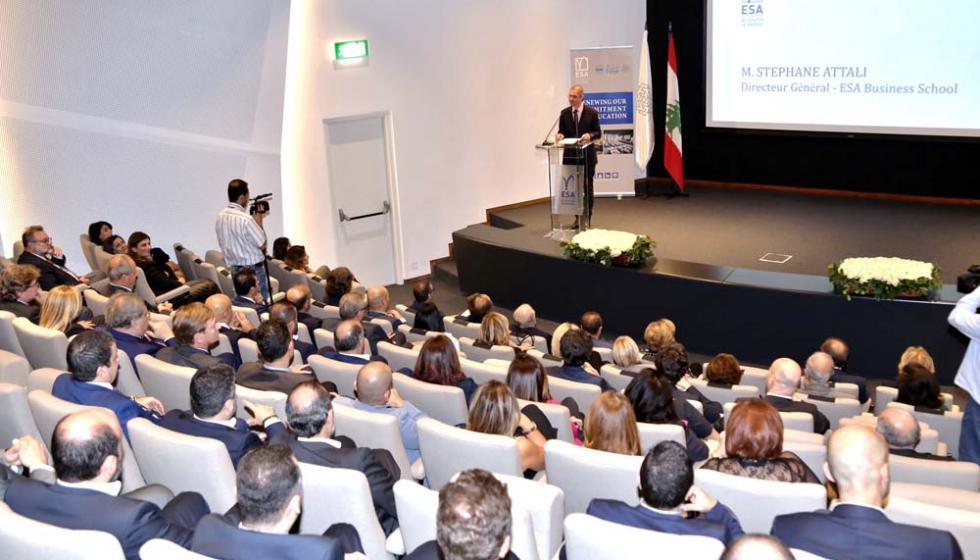 """حفل مميز احتفاءً بتحديث قاعة """"فتّال للمحاضرات"""" في المعهد العالي للأعمال ESA"""