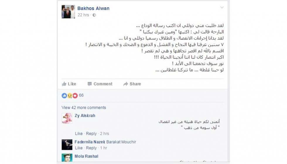 دوللي شاهين تطلب الإنفصال عن زوجها