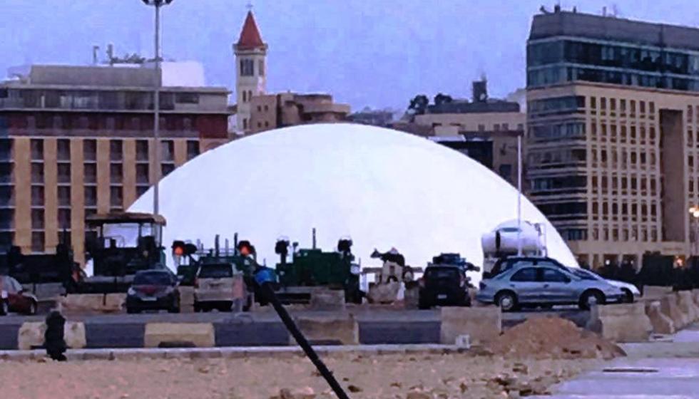 أنها القبة الدائرية العملاقة تليق ببيروت وبمهرجاناتها