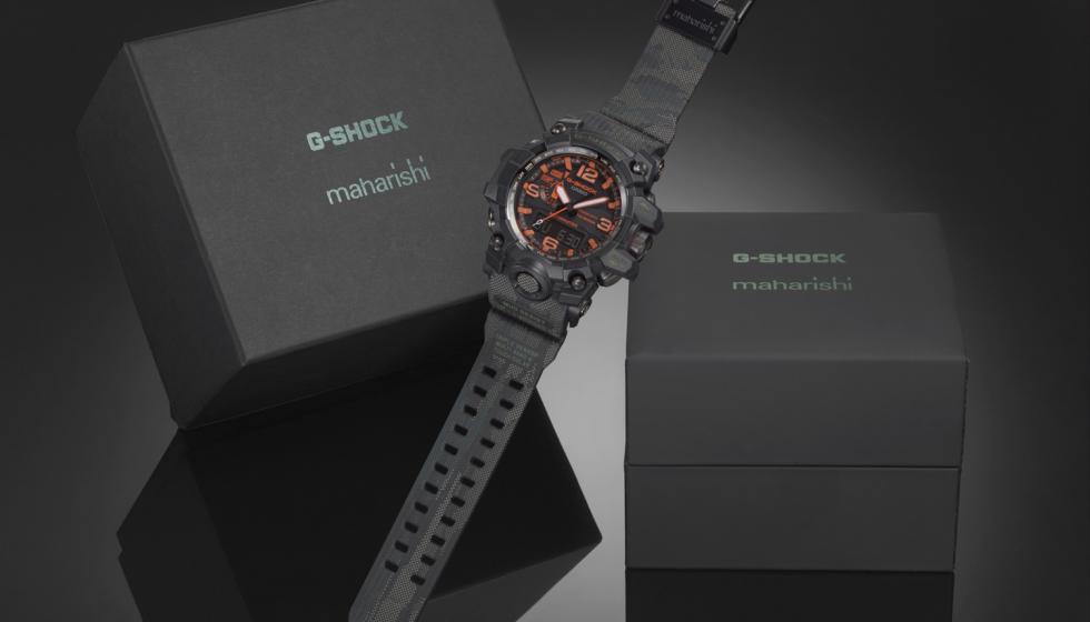 """""""جي-شوك"""" و""""مهاريشي"""" تعلنان عن إطلاق ساعة اليد Maharishi X G-SHOCK GWG-1000MH-1AER"""