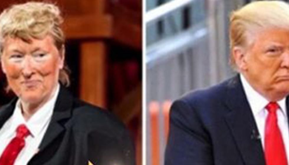 ميريل ستريب تغير ملامحها وتسخر من دونالد ترامب