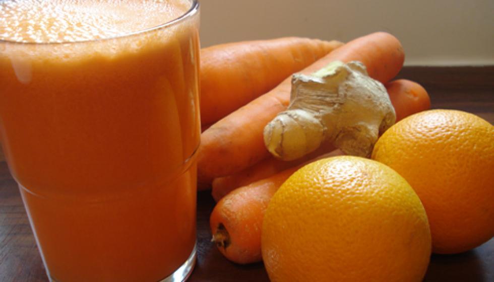 أطيب عصير للجزر مع البرتقال