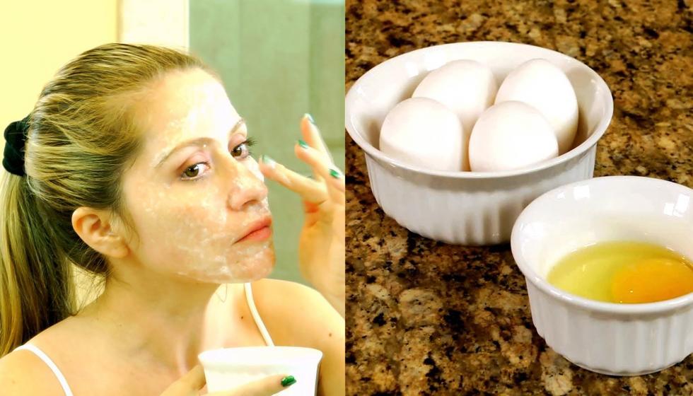 قناع البيض ودقيق الذرة لشد بشرة الوجه المترهّلة